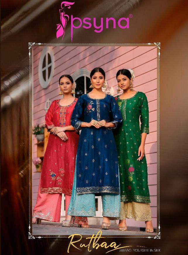 Psyna Presents Rutba Top With Classy Embroidered Sequence Palazzo Set For Wedding