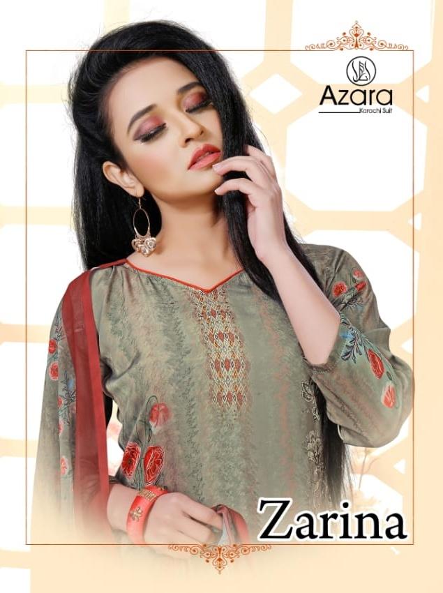 Radhika Zarina By Azara Crape Digital Printed Dress Materials