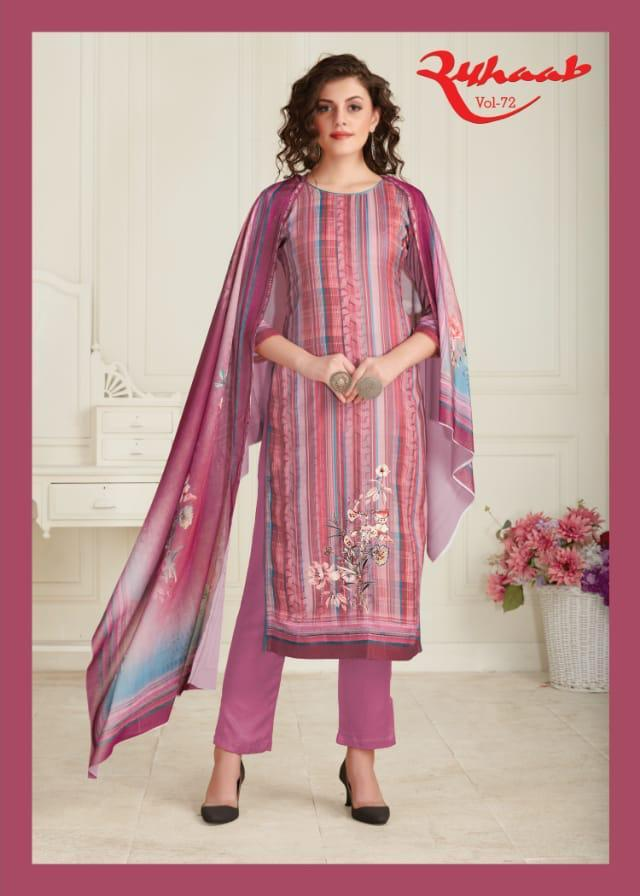 Ruhaab Vol 72 By Shivam Exports Pashmina Heavy Digital Print Suit Supplier