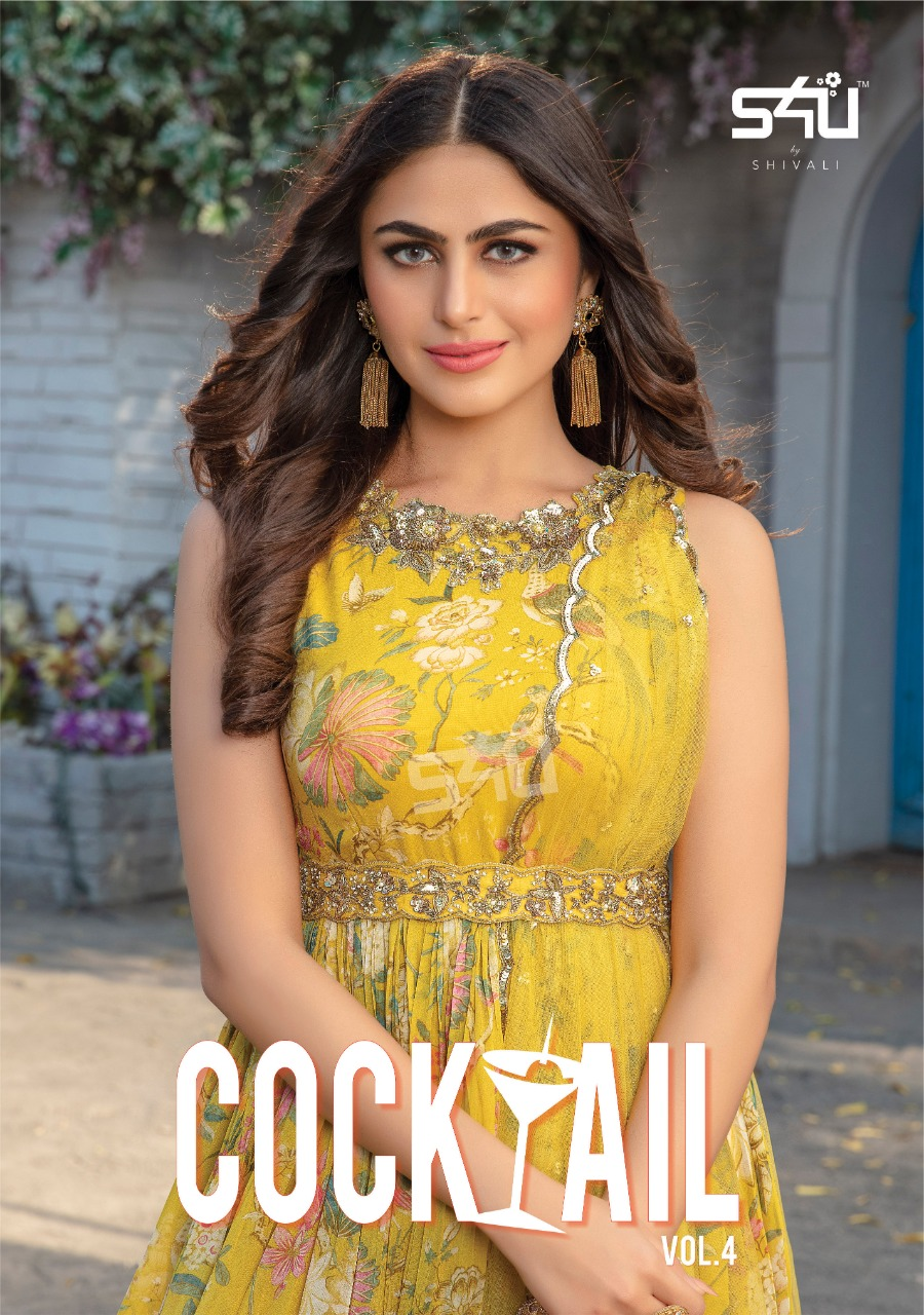 S4u Present Cocktail Vol 4 Georgette Indo Western 2021 Wedding Party Wear Collection