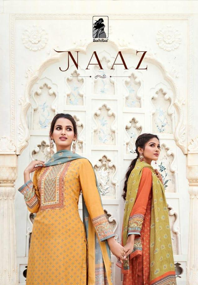 Sahiba Presenting Naaz Muslin Silk Digital Print Heavy Look Salwar Suits Collections