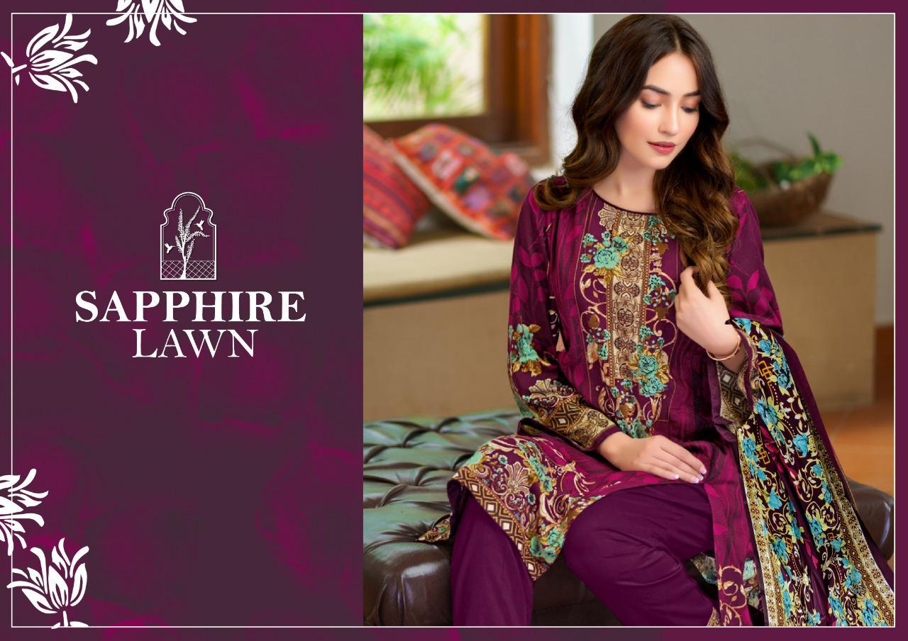 Sapphire Lawn Grand Collections Pure Lawn Casual Wear Salwar Kameez At Lowest Price