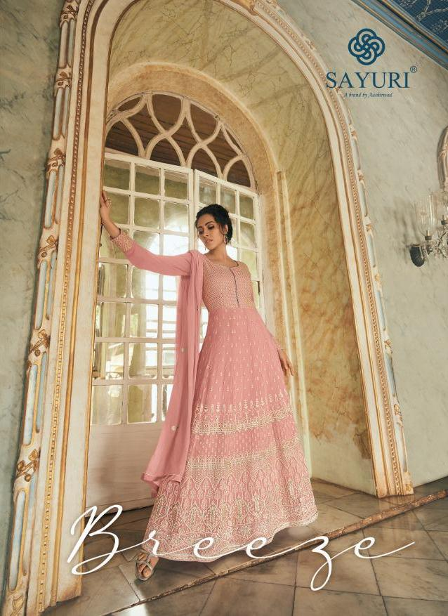 Sayuri Designer Launch Breeze Real Georgette Party And Wedding Wear Designer Long Suits