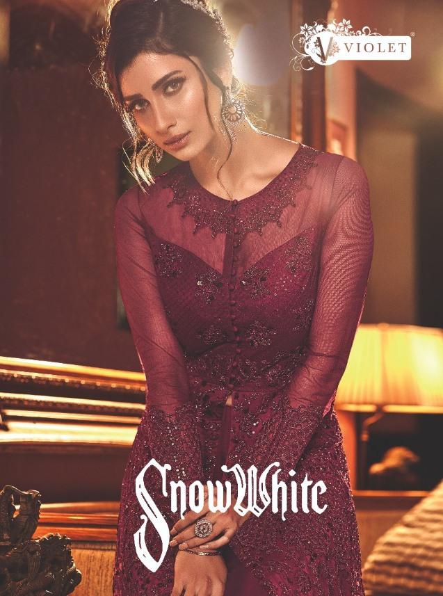 Swagat Snow White Vol 13 Exclusive Designer Jacket Premium Net Long Party Wear Suits Trader