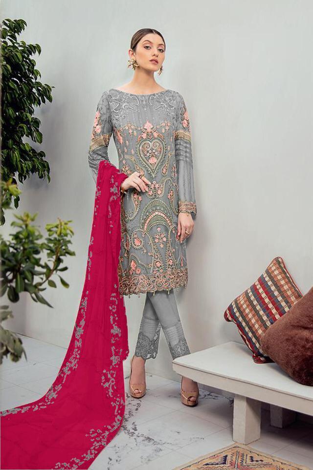 1071 Series Vol 16 By Alkaram Heavy Georgette Embroidery Work Dress Materials