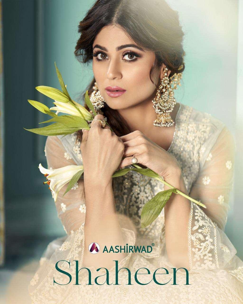 aashirwad creation shaheen 8315-8318 series heavy skirt pattern ladies dresses collection 2021