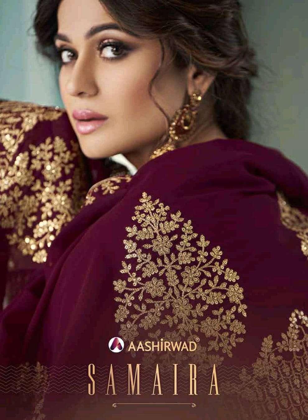 aashirwad samaira 8338-8342 series anarkali dresses for women latest collection