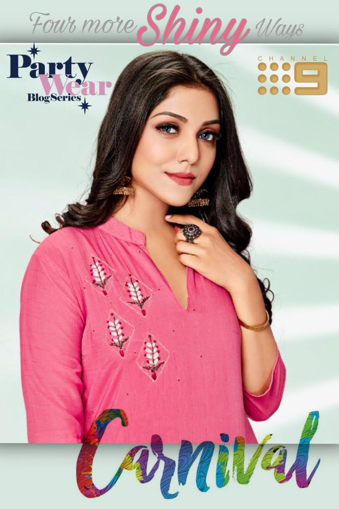 Carnival By Channel 9 Elegant Look Muslin Kurti With Pant Exporter In Surat