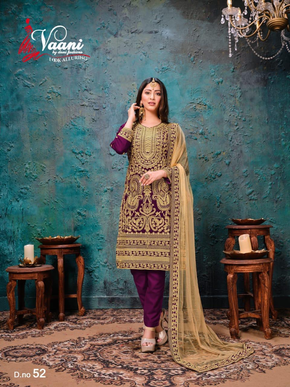 Dani Fashion Vaani Vol 5 Georgette Straight Fancy Salwar Suit