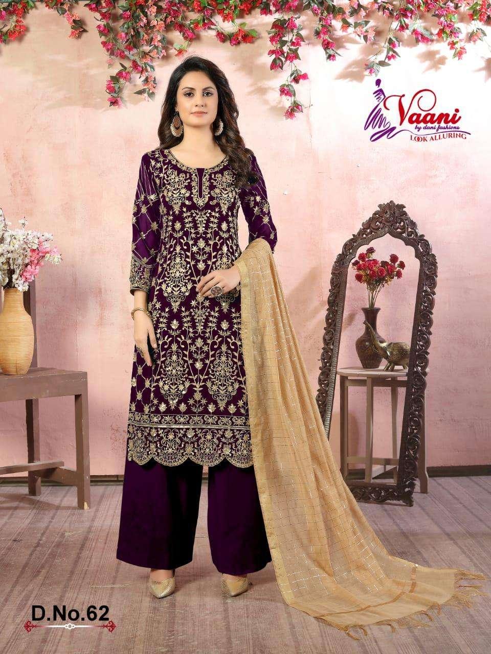 dani fashions vaani vol 6 georgette salwar suits catalog at best rates on krishna creation