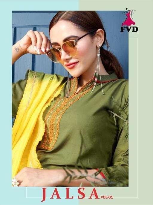fvd present jalsa readymade rayon salwar kameez