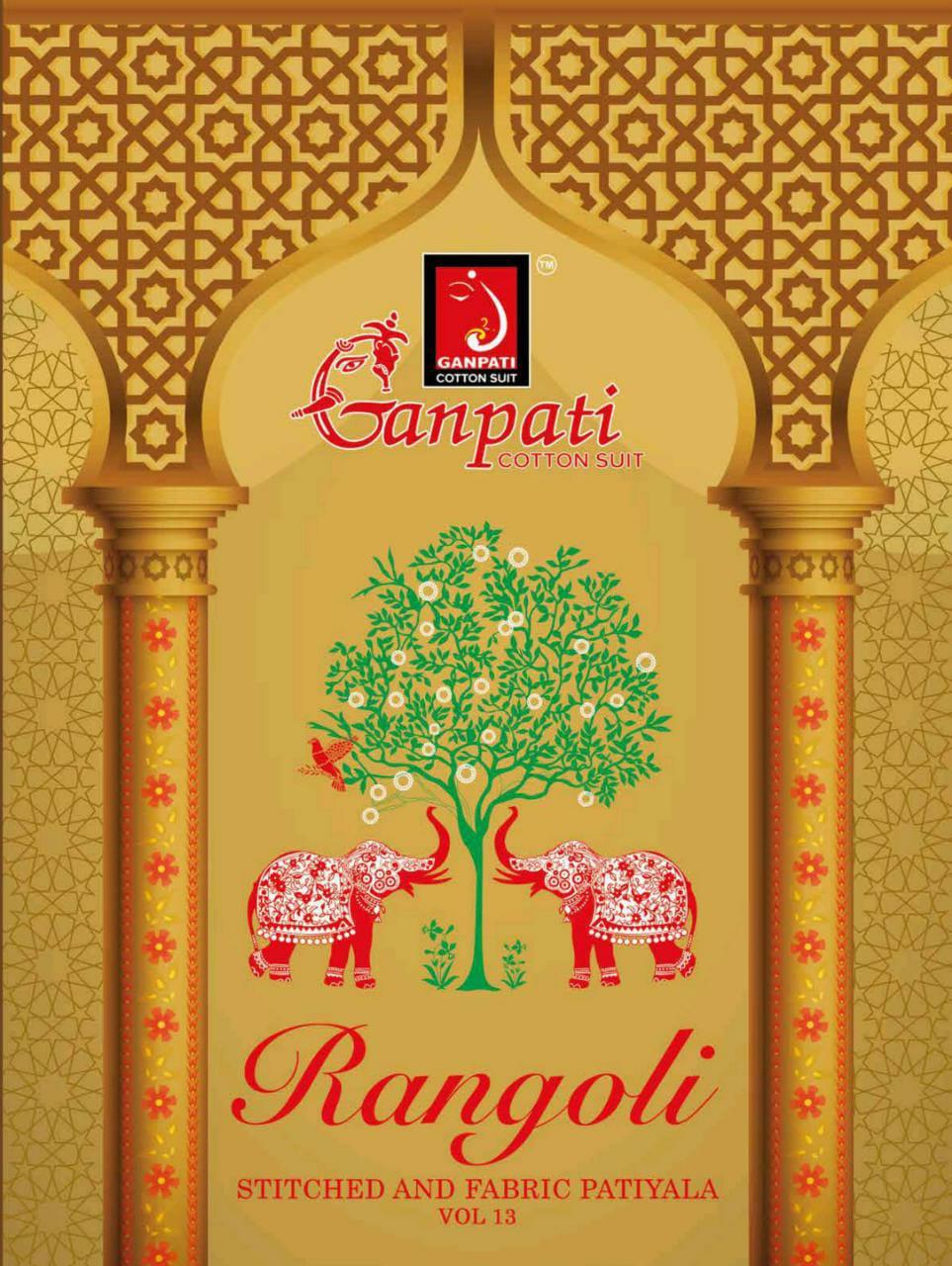 Ganpati Cotton Suits Rangoli Vol 13 Readymade Cotton Salwar Suits