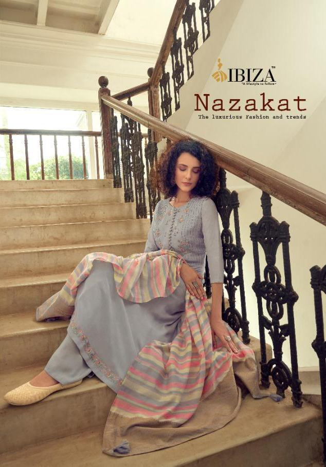 Ibiza Nazakat Pure Muslin With Fancy Embroidery Heavy Look Suits