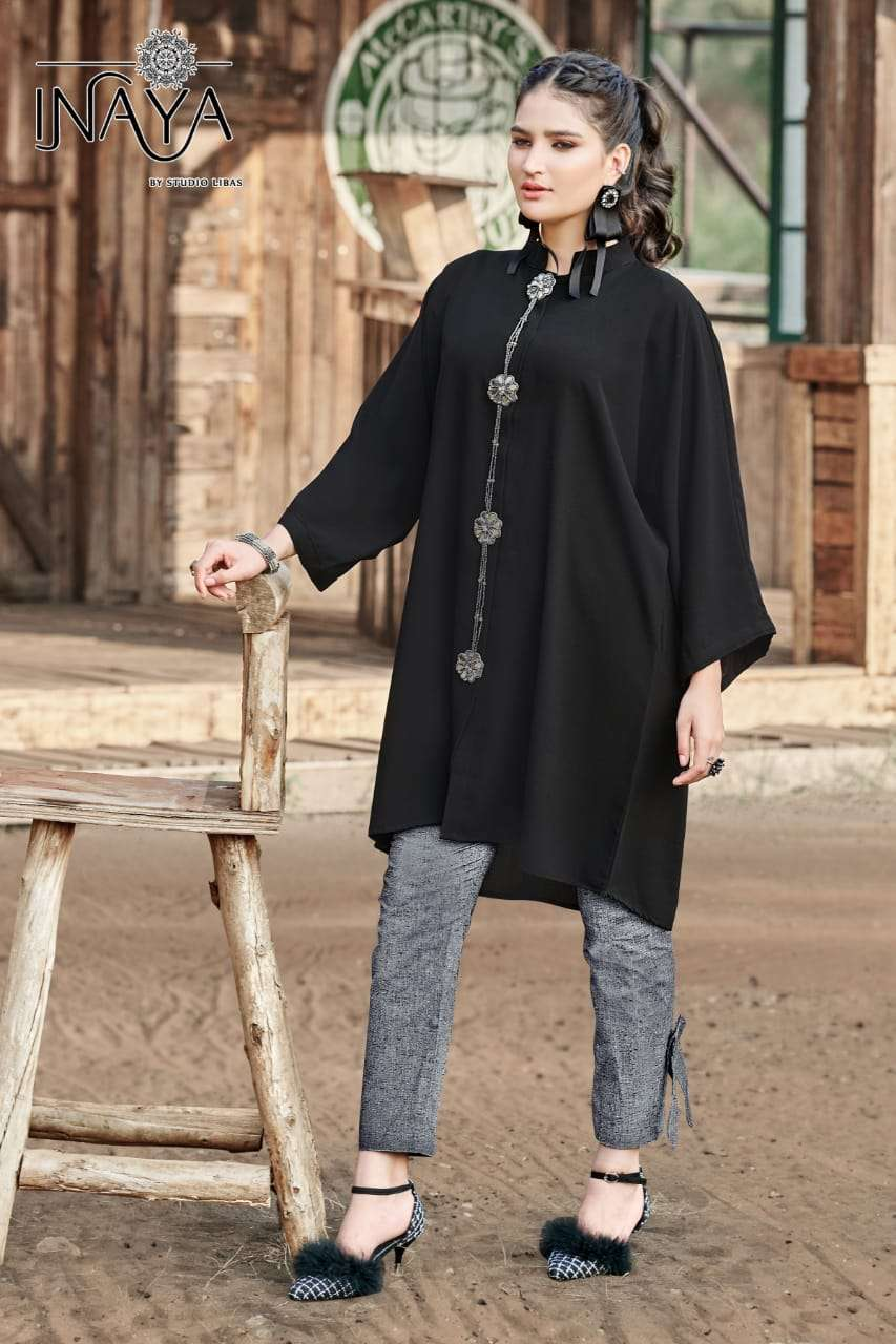 inaya lpc 83 by studio libas importer readymade kurti with cotton linen pant collection