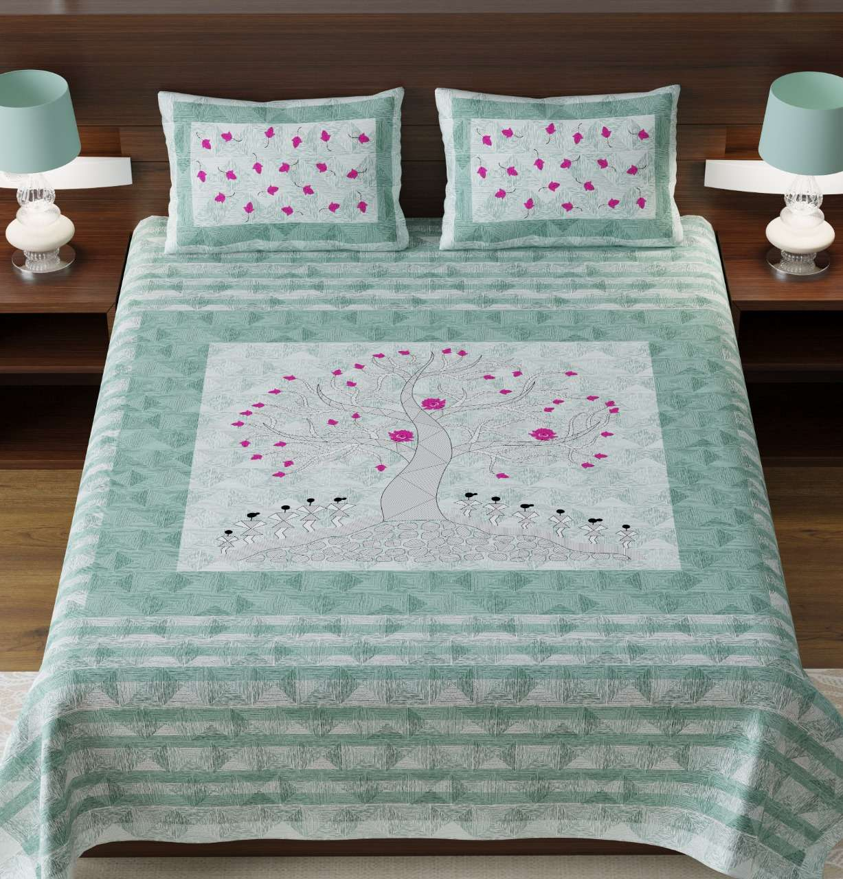 k4u launch rugs new collection in king size cotton bedsheets with pillow cover