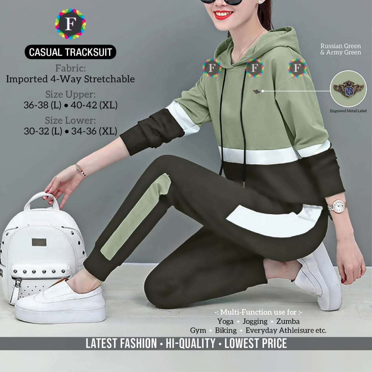 k4u present casual tracksuit imported 4 way stretchable ladies wear collection