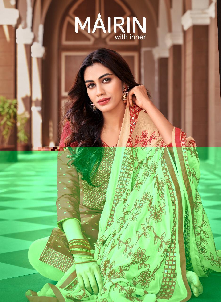 Kapil Trendz Mairin Modal Buti With Fancy Work Casual Wear Dress Materials