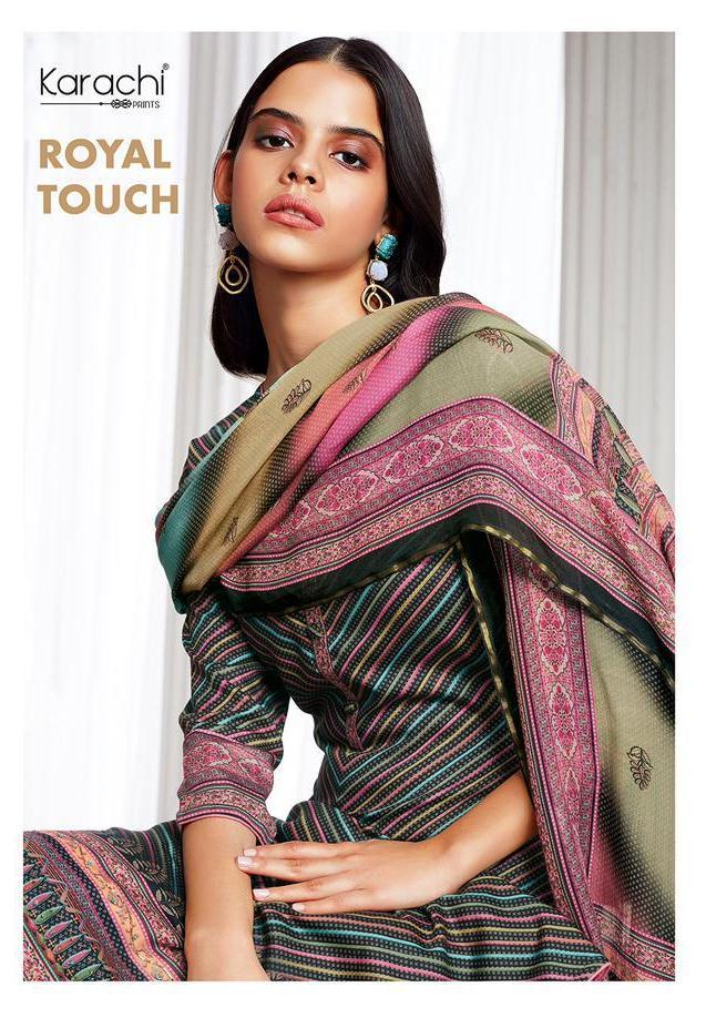 Kesar Karachi Print Royal Touch Jam Satin Digital Print Heavy Look Salwar Suits