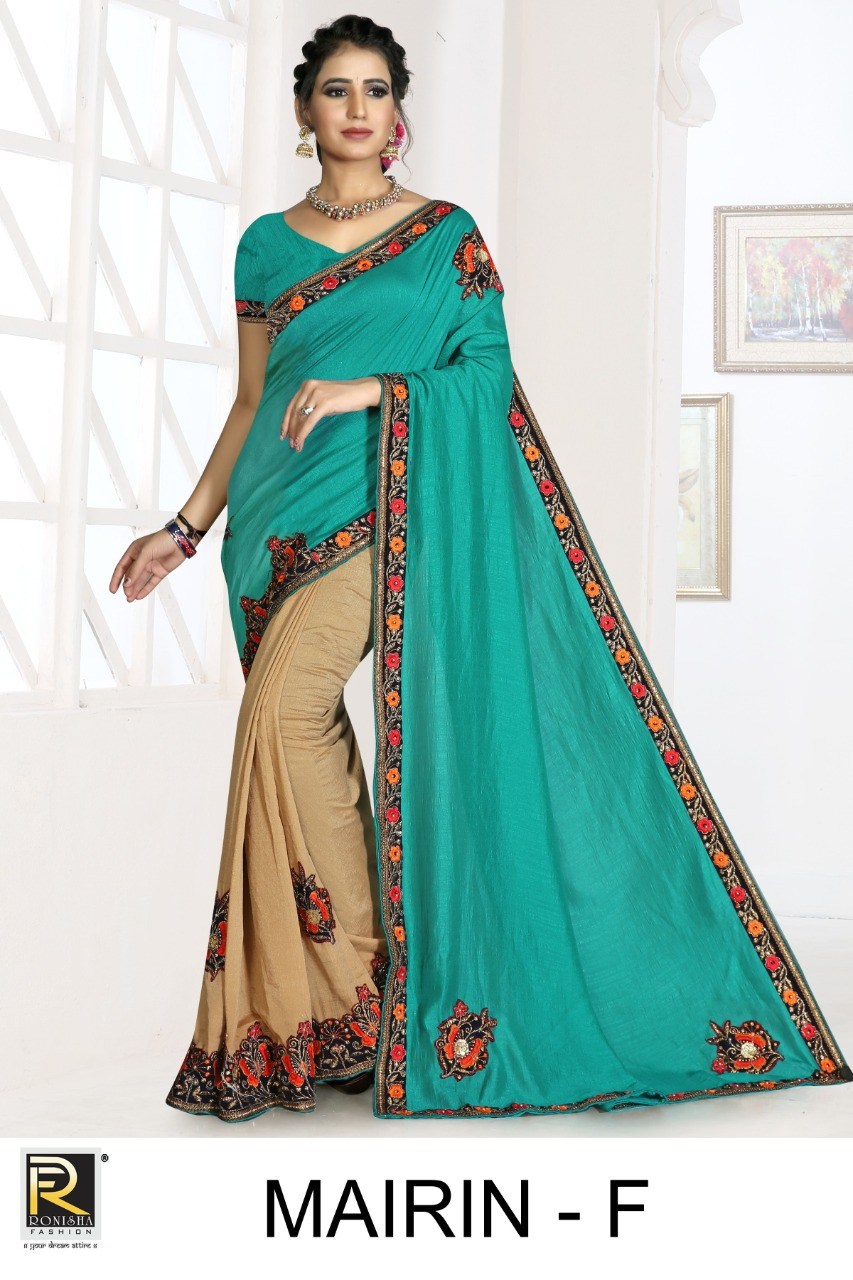 Mairin By Ranjna Saree Exclusive Vichitra Silk Saree Catalogs Trader