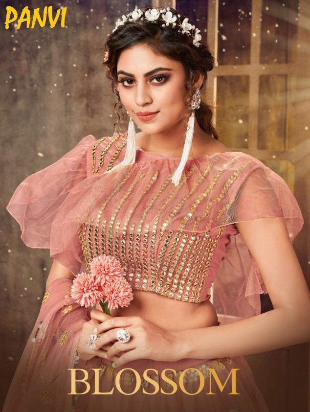 Panvi Launch Blossom Soft Net Flair Style Long Gown Collection