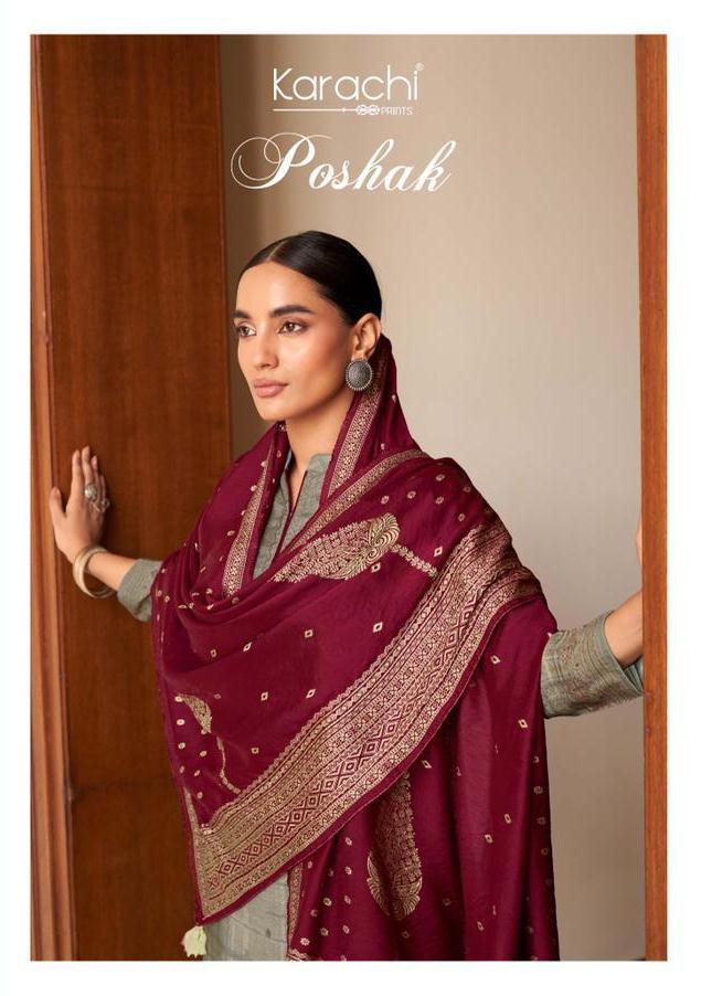 Poshak By Kesar Karachi Prints Digital Organic Muslin Silk Salwar Kameez In India
