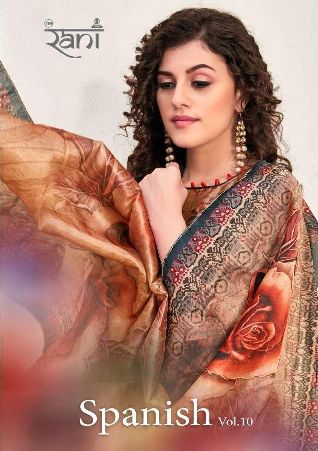 rani spanish vol 10 cotton satin formal wear dress materials wholesaler