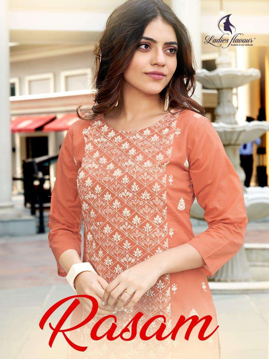 rasam by ladies flavour cotton embroidery ladies top with bottom supplier