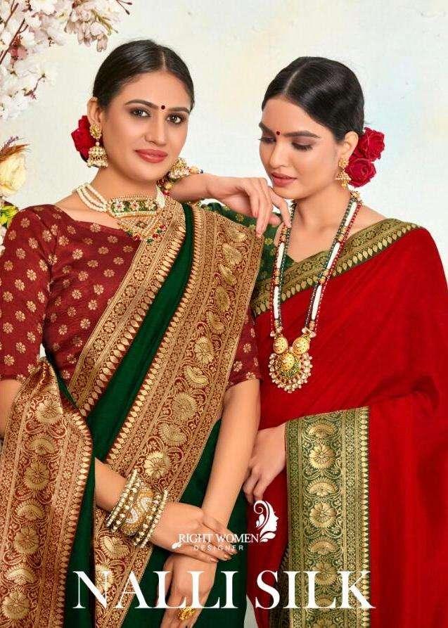 right women nalli silk fancy saris wholesale supplier in surat market
