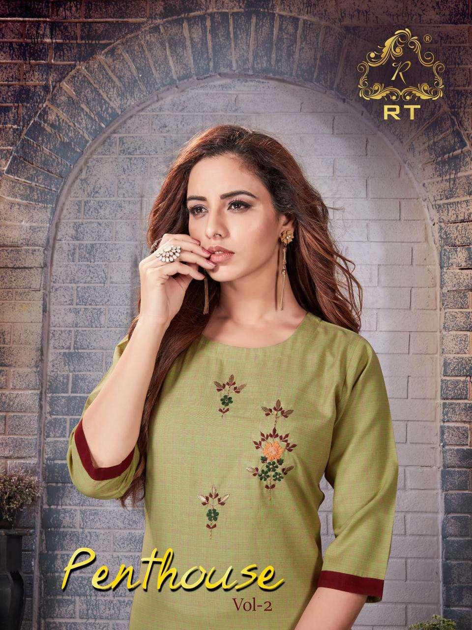 rijiya trends penthouse vol 2 exclusive festive kurti with pant wholesaler in surat