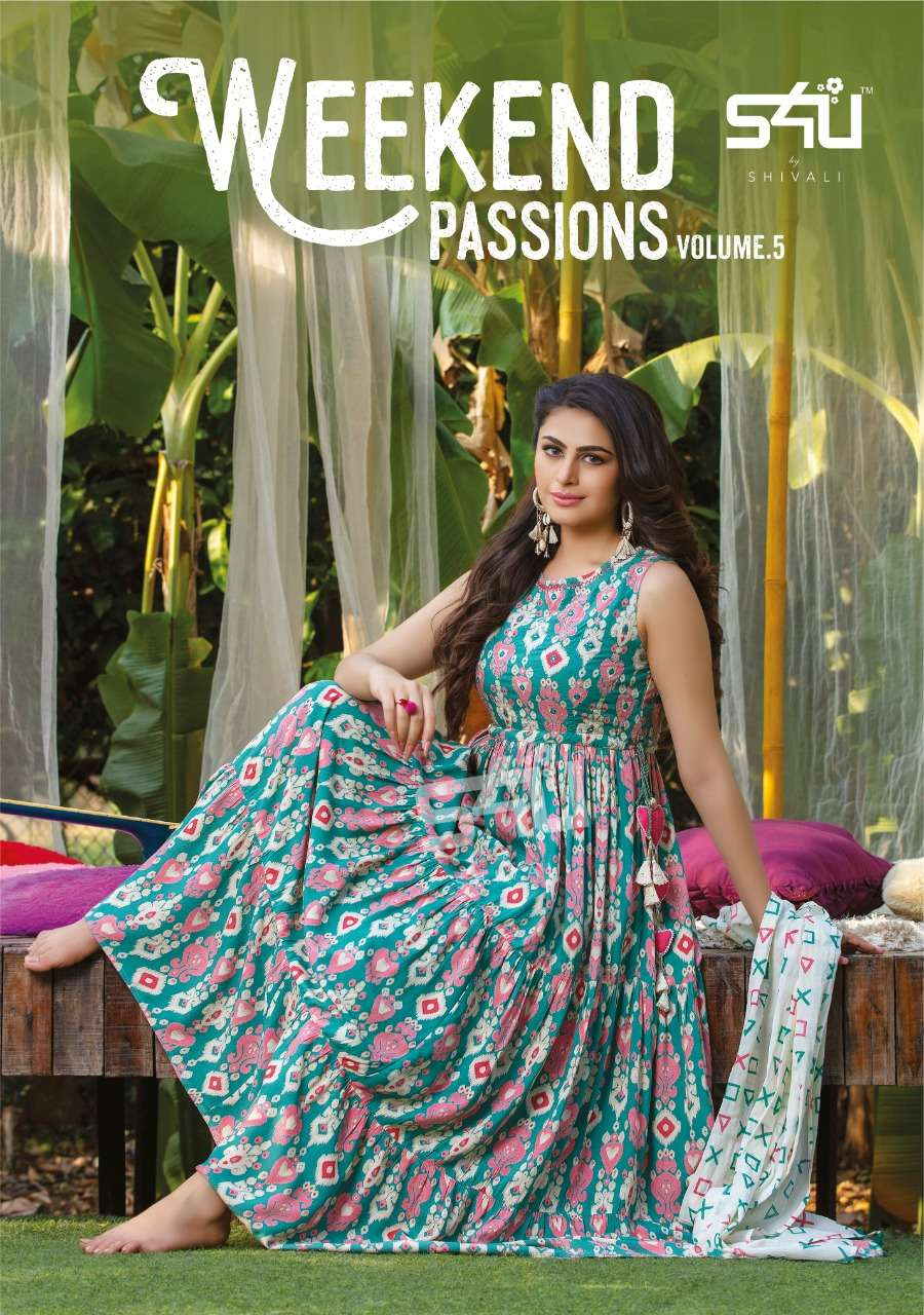 s4u weekend passions vol 5 casual dresses with scarves for women girls collection