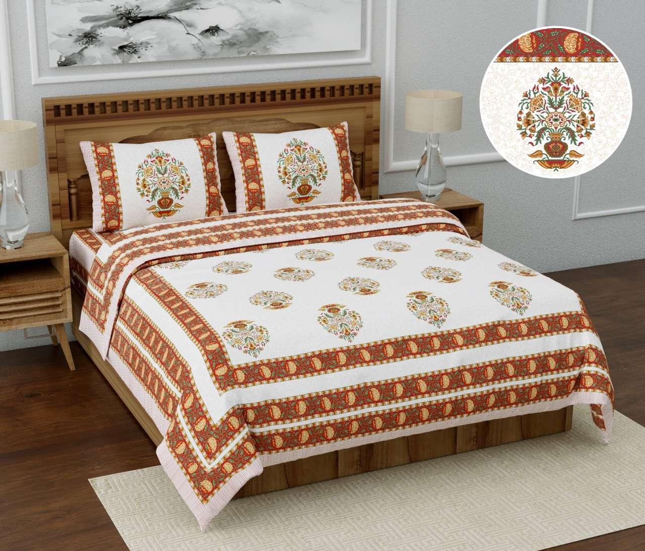 satrangi by k4u pure jaipuri printed cotton king size bedsheet wholesaler