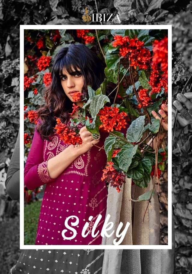 silky by ibiza russian silk jacquard ethnic stylish suits wholesaler