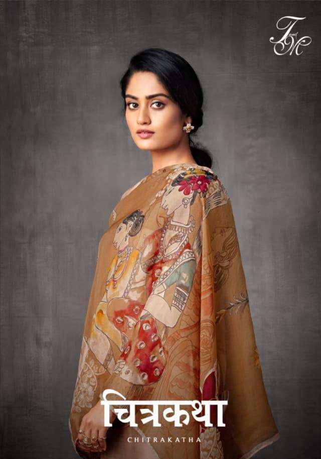 t & m present chitrakatha russian silk party wear heavy salwar kameez