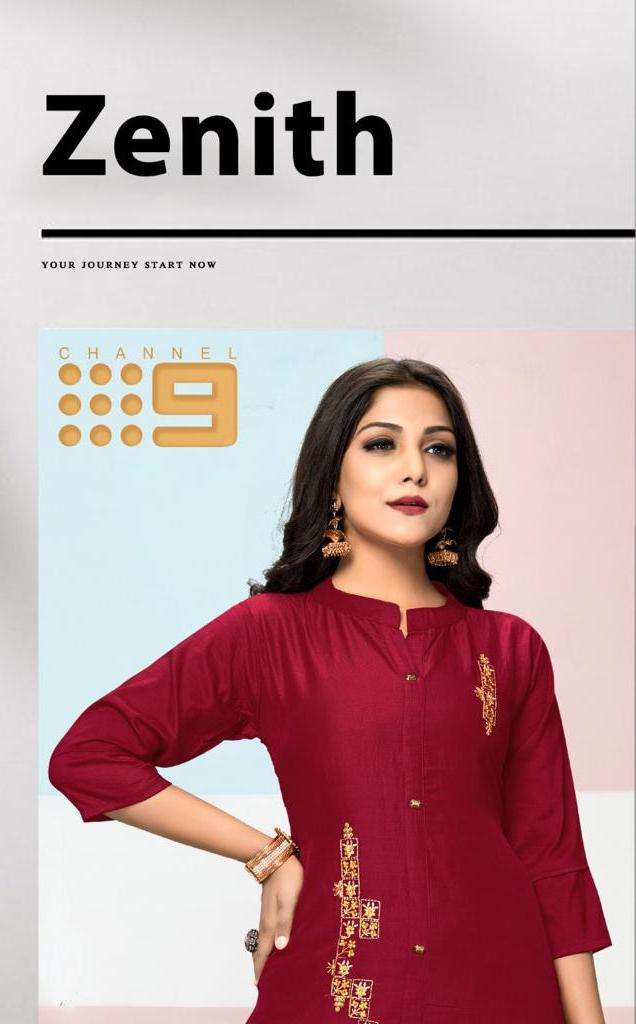 zenith by channel 9 chinon silk kurta with cotton slub pant pair collection