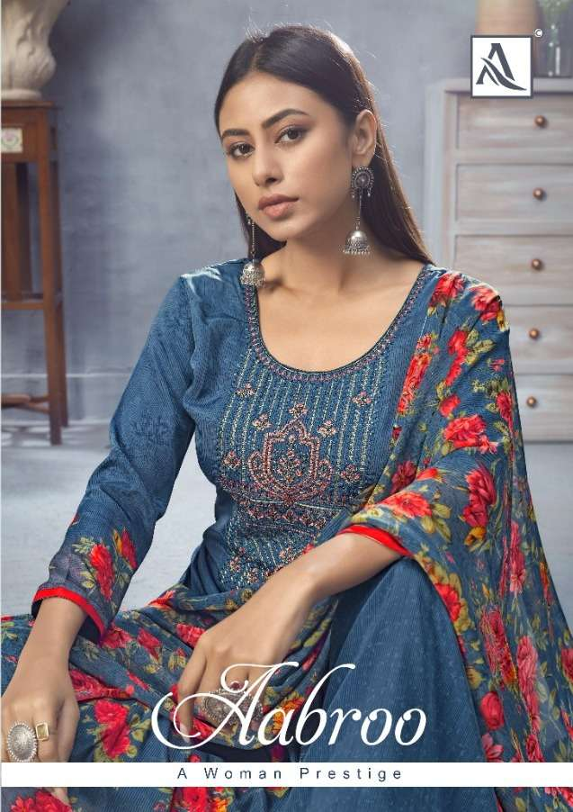 alok suit aabroo french crape casual wear lowest price salwar kameez