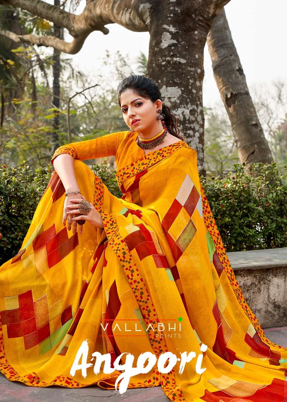 angoori by vallabhi printed georgette elegant sarees