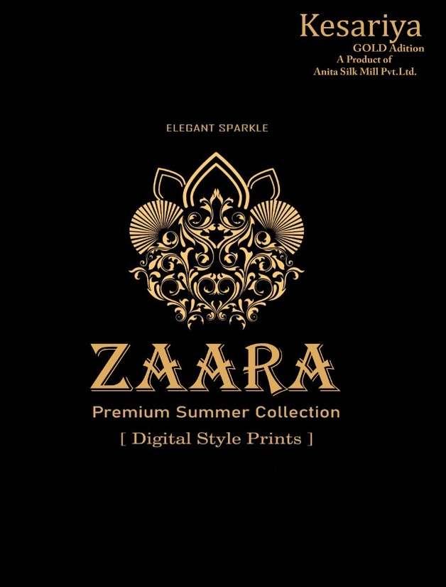 anita silk mills kesariya zaara fancy casual wear dress materials