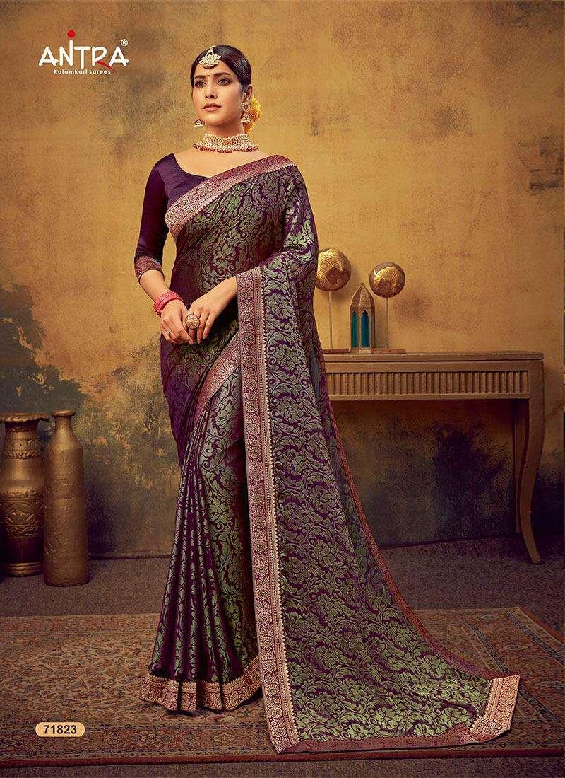 antra manbhari brasso saree collection best price in surat market