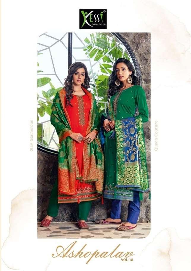 asopalav vol 18 by kessi jam silk embroidery salwar kameez