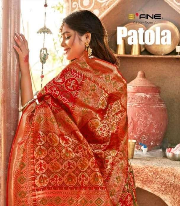 b fine patola 524-535 series elegant silk designer sari wholesale shop in surat