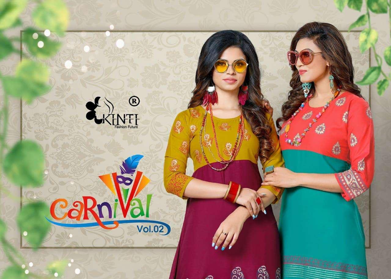 carnival by kinti flair style ladies kurtis wholesaler in india