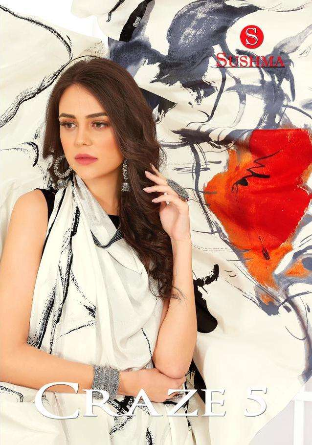 craze vol 5 by sushma crape printed daily wear saree