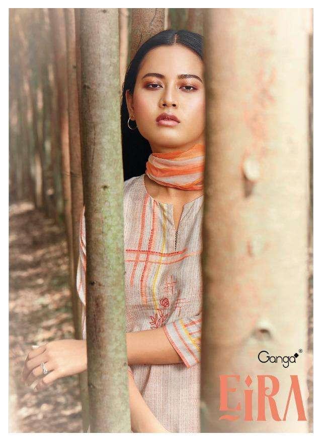 eira by ganga cotton print with embroidery indian salwar kameez
