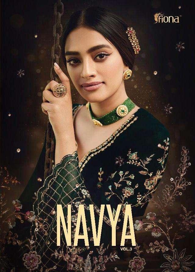 fiona navya vol 3 georgette embroidery party wear fancy salwar kameez