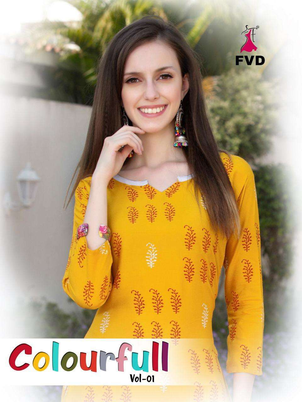 fvd present colourfull rayon top with sharara collection