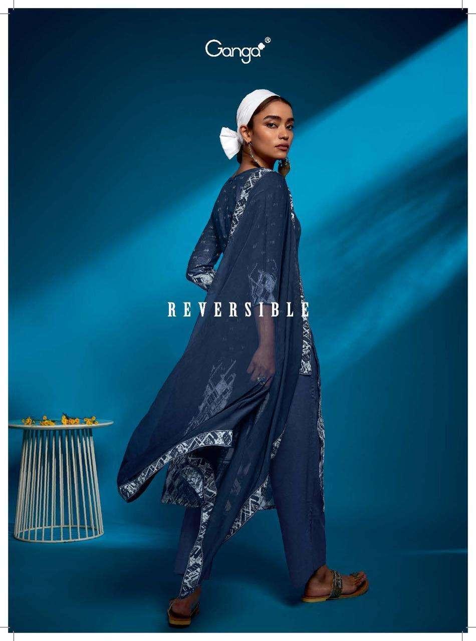 ganga reversible cotton jacquard stylish fancy salwar kameez