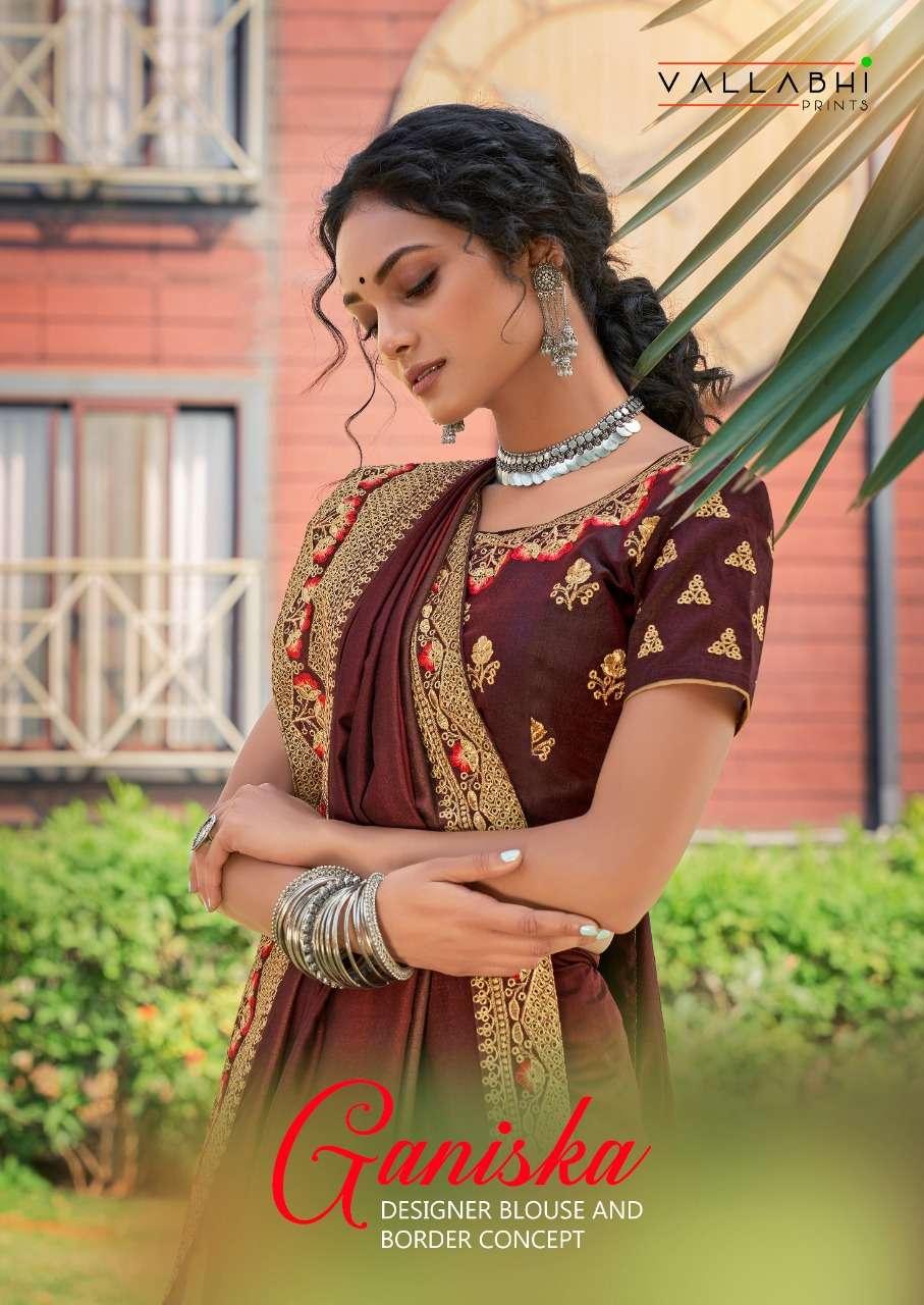 ganiska by vallabhi vichitra silk wedding saree collection