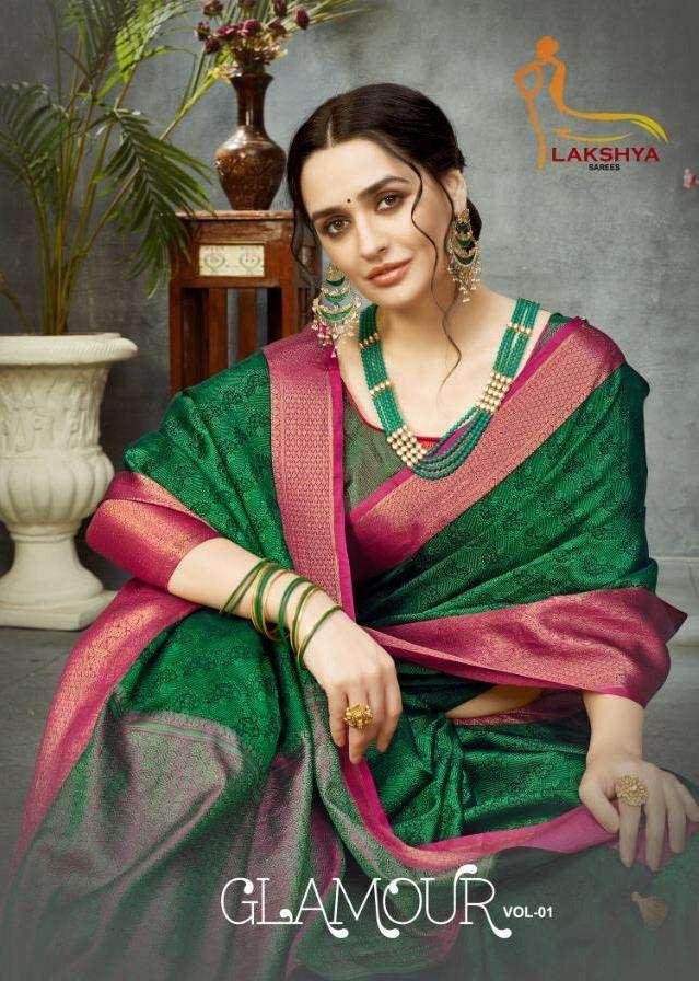 glamour by lakshya saree banarasi silk traditional wear sarees