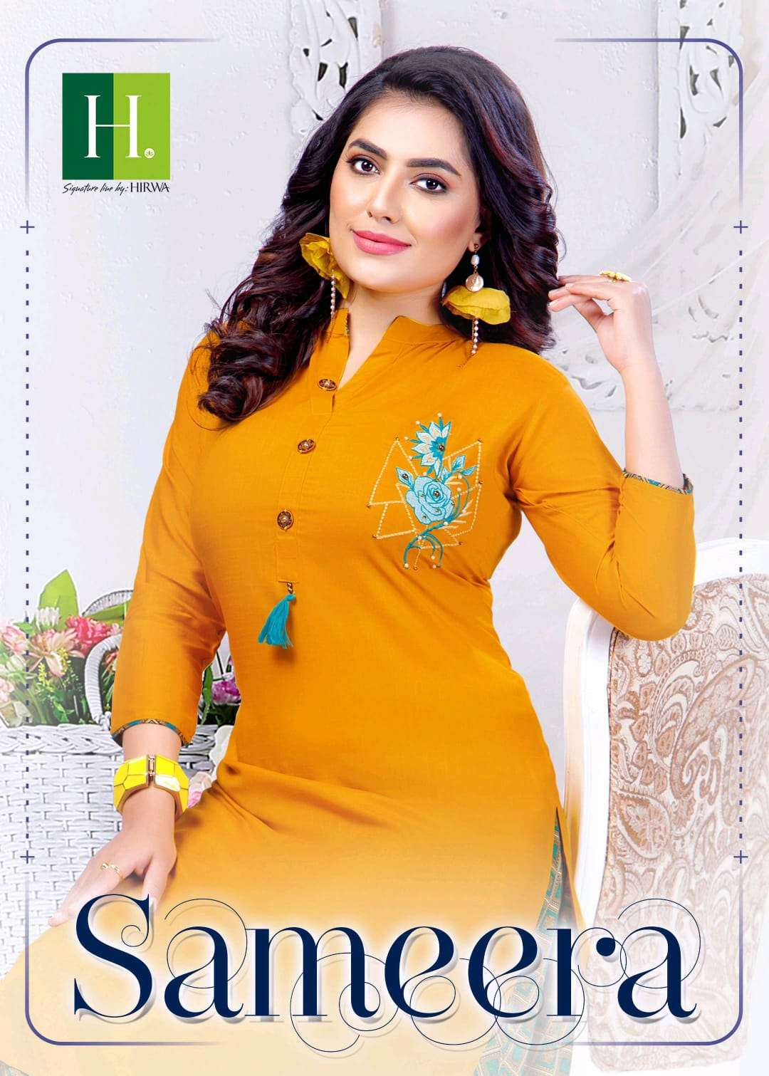 h dot sameera by hirwa straight top with skirt latest collection