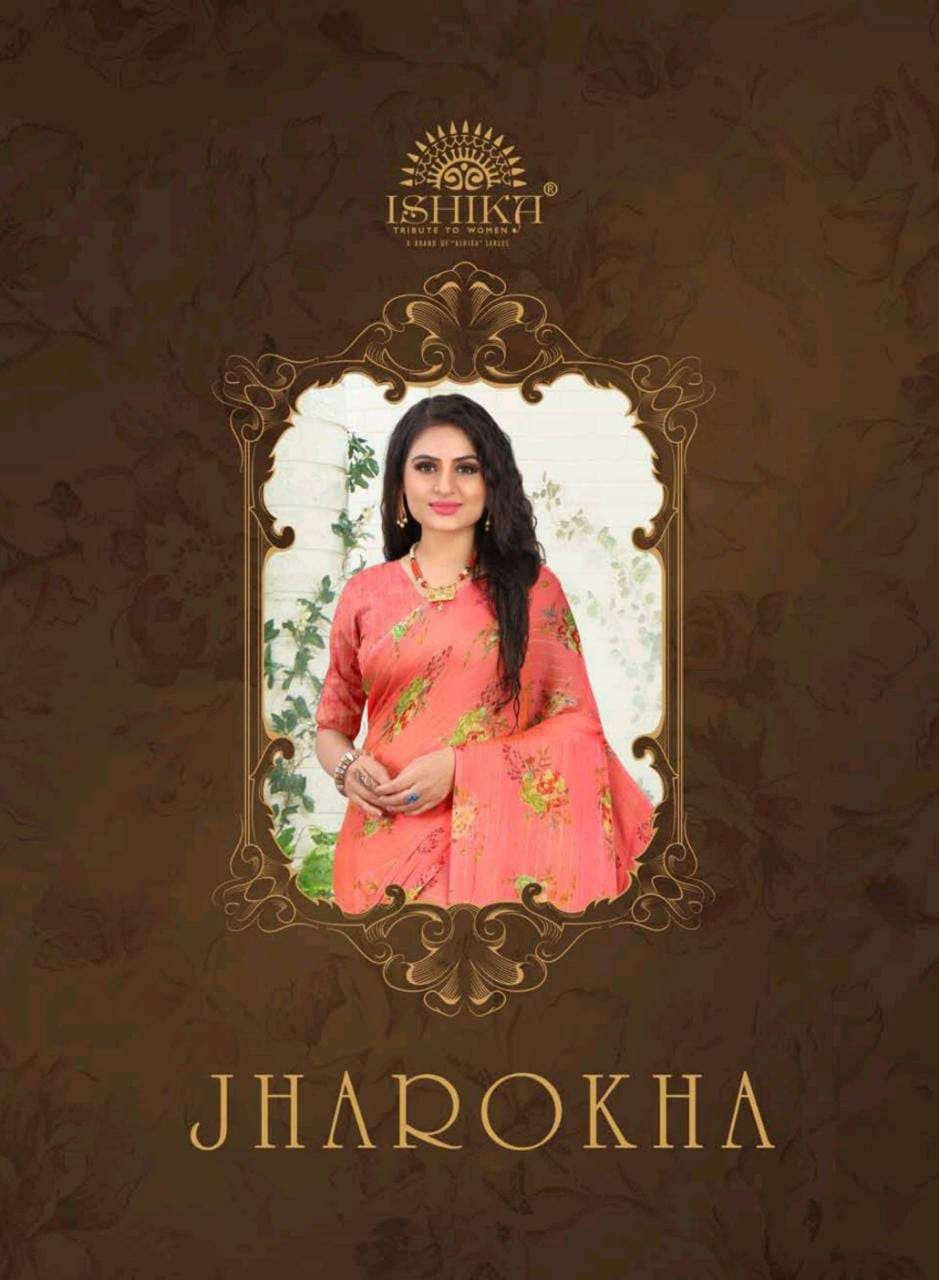 ishika saree jharokha fancy chiffon elegant sari for women